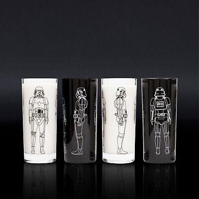 Thumbs Up Original Stormtrooper Trinkgläser 4er-Set schwarz und klar, je 300ml