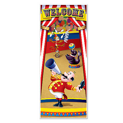 CIRCUS CARNIVAL Big Top Decoration CIRCUS TENT DOOR Wall COVER - Circus Door Decorations
