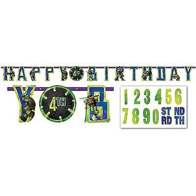TMNT Teenage Mutant Ninja Turtle Jumbo Happy Birthday Banner Party Supplies New - Ninja Turtle Happy Birthday