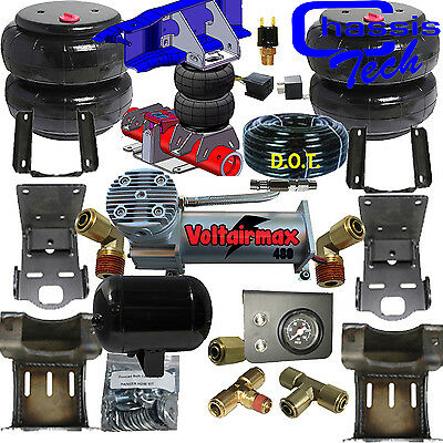 Air Helper Spring Kit Ford F250 F350 DRW 2011-2016 Compressor Push Button xzx