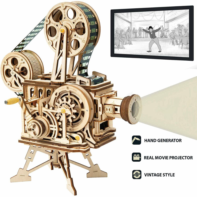 ROBOTIME 3D Puzzle DIY Wooden Vitascope Model Building Kits