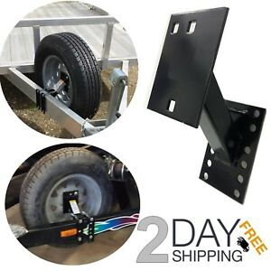 Utility Trailer Tongue Spare Tire Carrier Holder Bed Wheel Mount Boat Bracket