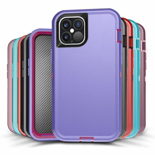 For IPhone 12 Pro Max 11 X XS XR 8 7 SE2 Shockproof Hybrid Armor Case Hard Cover - $7.99