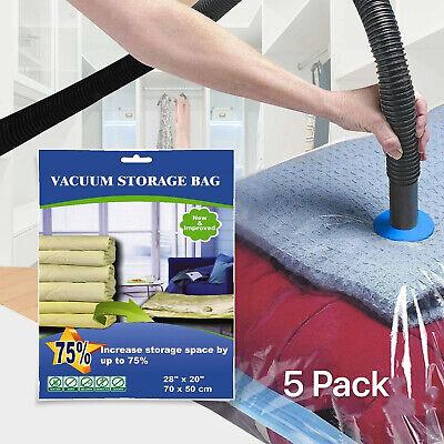 5 PACK Large Vacuum Seal Storage Bag Space Saver Compress Bags Direct Wholesaler ()