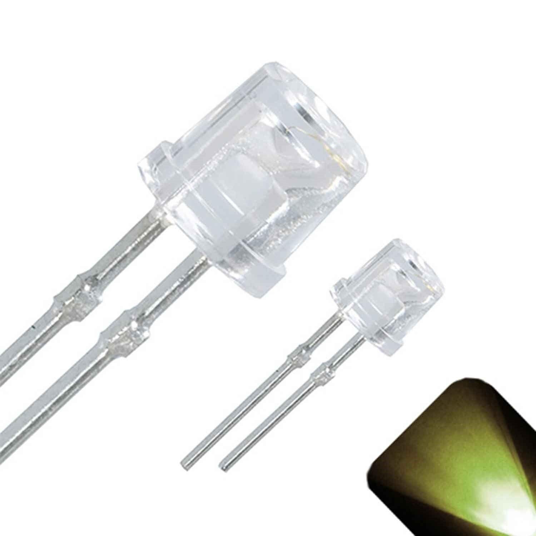 10 x LED 3mm Warm Soft White Ultra Bright Flat Top Wide Angle LEDs Light RC Car