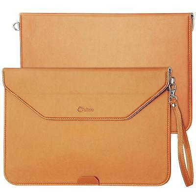 Macbook Air 13 Case, Vakoo (Envelope Style) Waterproof  Brown PU Leather NEW - Macbook Air Envelope