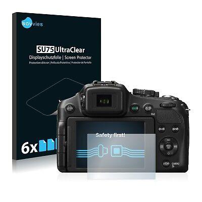 6x Displayschutzfolie Panasonic Lumix DMC-FZ200 Schutzfolie Folie Displayfolie