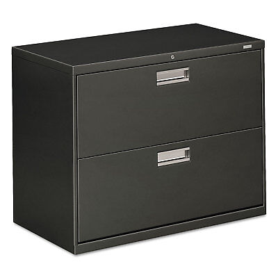 Hon 600 Series Two-drawer Lateral File 36w X 18d Charcoal 682ls