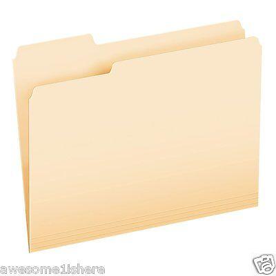 Manila File Folders Letter Size 13 Cut File Cabinet Office Supplies Documents