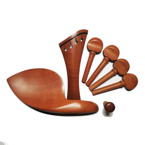 4/4 Advanced Jujube Wood Violin Fitting HarpTailpiece Chinrest Antique Pegs New