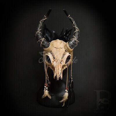Ram Skull Mask (Large Demon Ram Horns Skull Masquerade Mask Decoration Headdress)