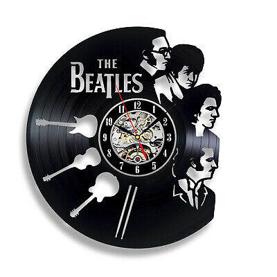 Beatles Liverpool City Vinyl Wall Clock - British Music Band Fans Party ()