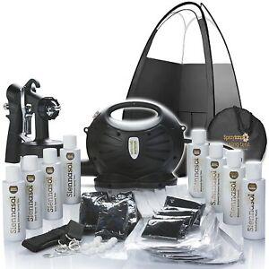 Spray Tan Kit - Rapidtan Professional Airbrush HVLP Machine, Tanning Tent & Tan