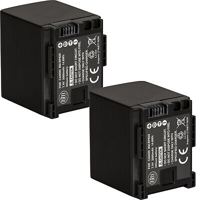 BM 2X BP-820 Batteries for Canon Vixia HFM300, HFS100, HFS200, HF200 HFS10 HFS11