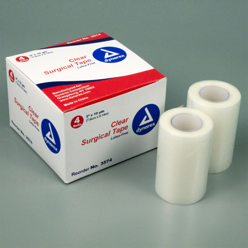 """Clear Surgical Tape, 3"""" x 10 Yds., 48/CS, #3574"""