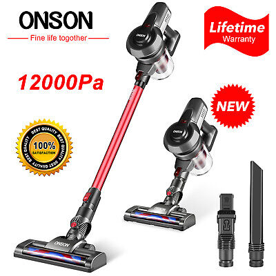 ONSON Cordless Handheld Stick Vacuum Cleaner Carpet Floor Clean 12000pa Suction