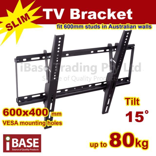 LCD LED PLASMA FLAT TILT TV WALL MOUNT BRACKET 32 40 46 50 55 60 64 70 75 FREE