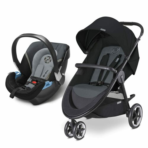 CYBEX 3 IN 1 WITH INFANT CAR SEAT BABY CARRIAGE Travel System Moon Dust STROLLER