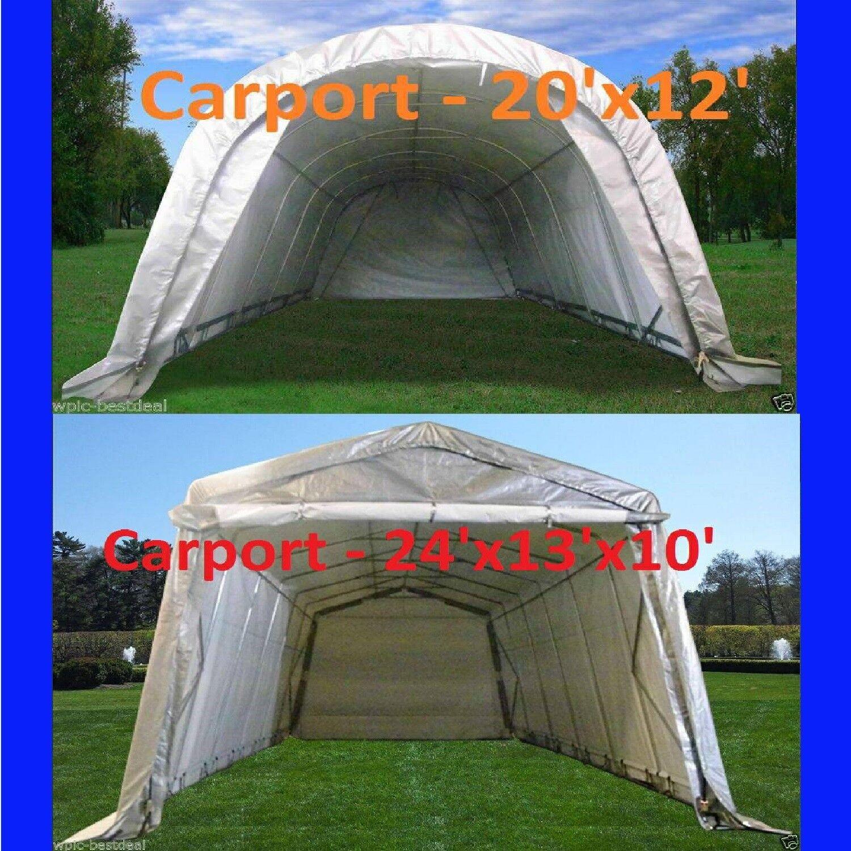Carport - 20'x12, 24'x13' Garage Storage Canopy Shelter Shed