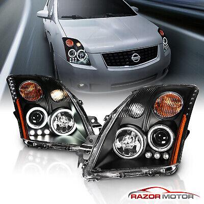 [Dual CCFL Halo] For 2007 2008 2009 Nissan Sentra CCFL Projector Headlights Pair