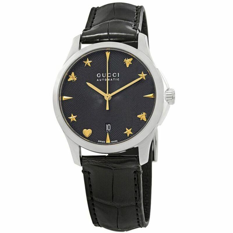 Gucci YA126469 Women G-Timeless Black Automatic Watch