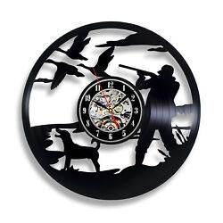 Duck Hunting Bird Hunting Vinyl Record Wall Clock Art Home Decor Gift Idea