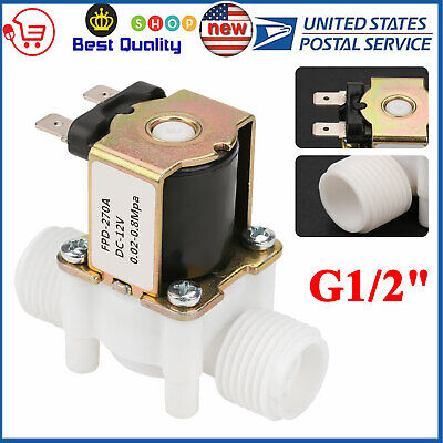 12v G12 Plastic Electric Solenoid Valve Magnetic Water Air Nc Normally Closed