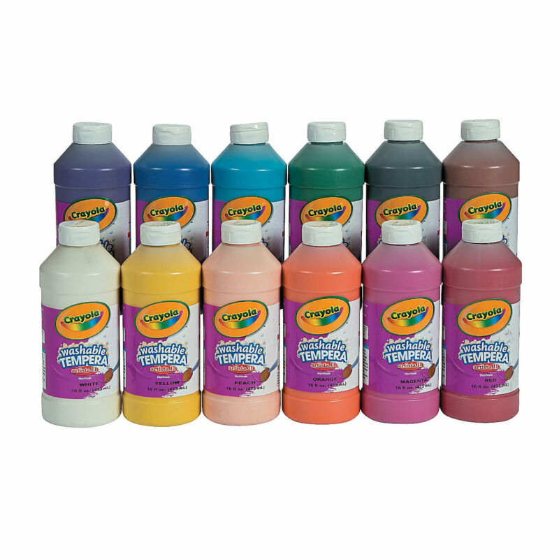 16-Oz. Crayola  Assorted Colors Washable Tempera Paint