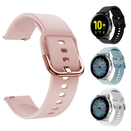 For Samsung Galaxy Watch Active 2 42mm 40mm 44mm Sport Soft Silicone Band Strap