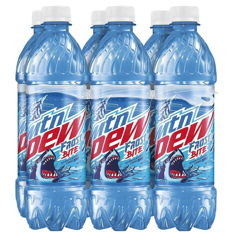 Mountain Dew Frostbite 6pk 16.9oz bottles Limited Edition (2020 Release)