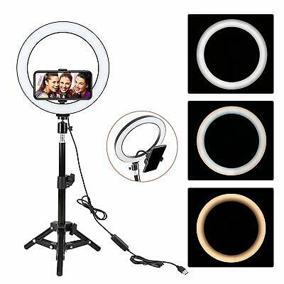 "ZOMEi 10"" Selfie LED Ring Light with Tripod&Cell Phone Holder for Live Stream"