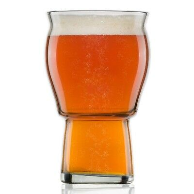 A Beer Glass for Beer Drinkers - Nucleated Pint Glasses for Better Head
