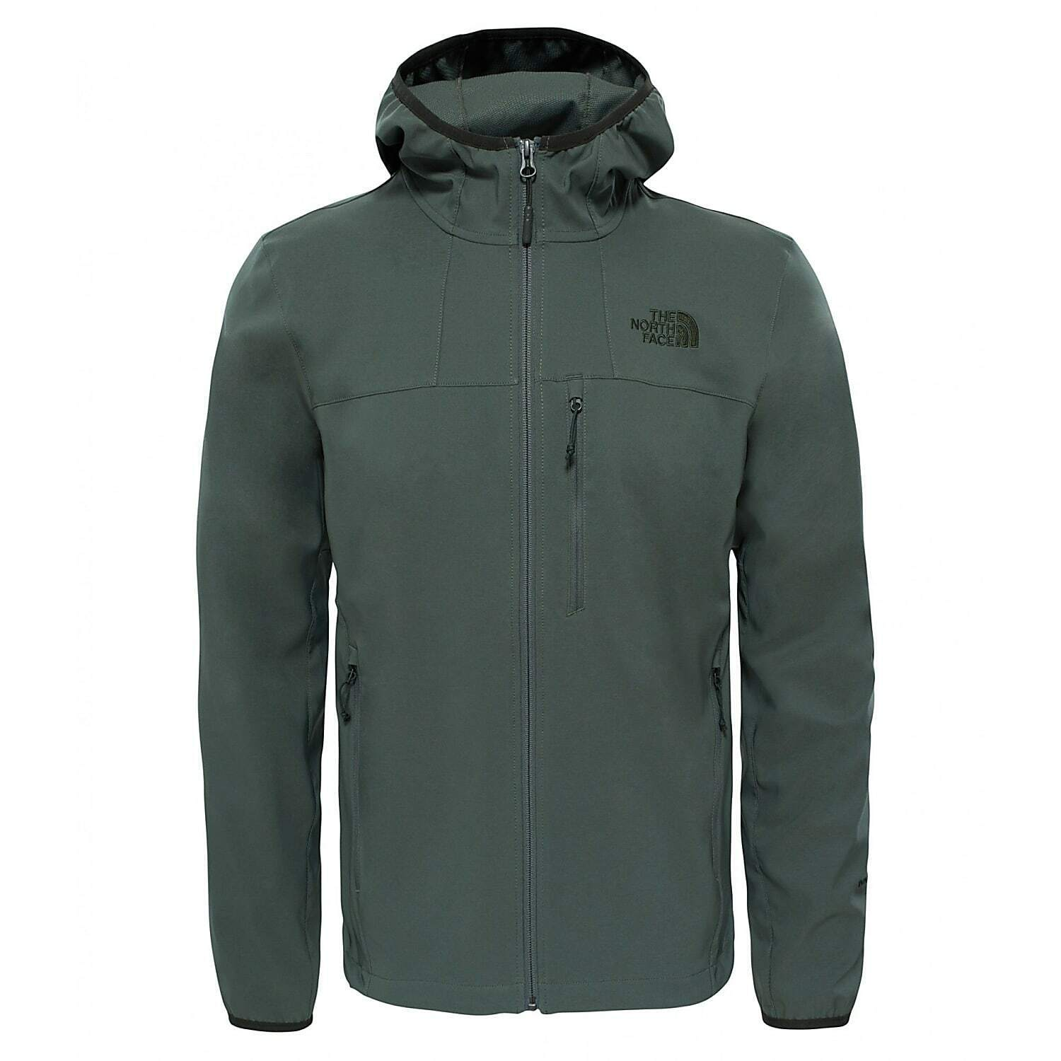NEW MENS LARGE THYME GREEN THE NORTH FACE NIMBLE HOODIE SOFTSHELL JACKET HOODED