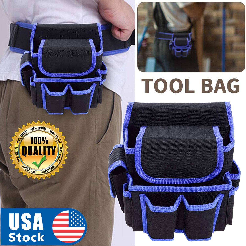 Electrician Waist Pocket Belt Tool Pouch Bag Canvas Hardware Toolkit Holder Bag Home & Garden