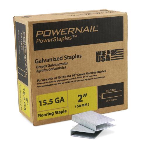 "Powernail 15.5 Ga. 2"" PowerStaples (case of 5000)"