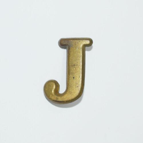 "Original Brass Letter ""J"" Hat Insignia - Civil War Era - Company, Regiment"