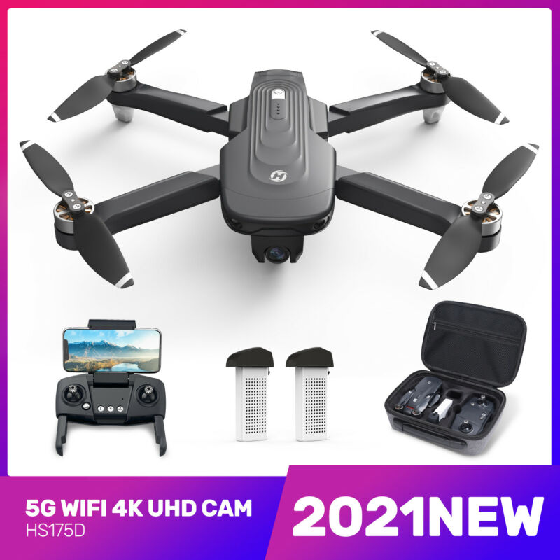 NEW Holy Stone HS175D Foldable DRONE FPV 4K Camera Brushless RC GPS Quadcopter