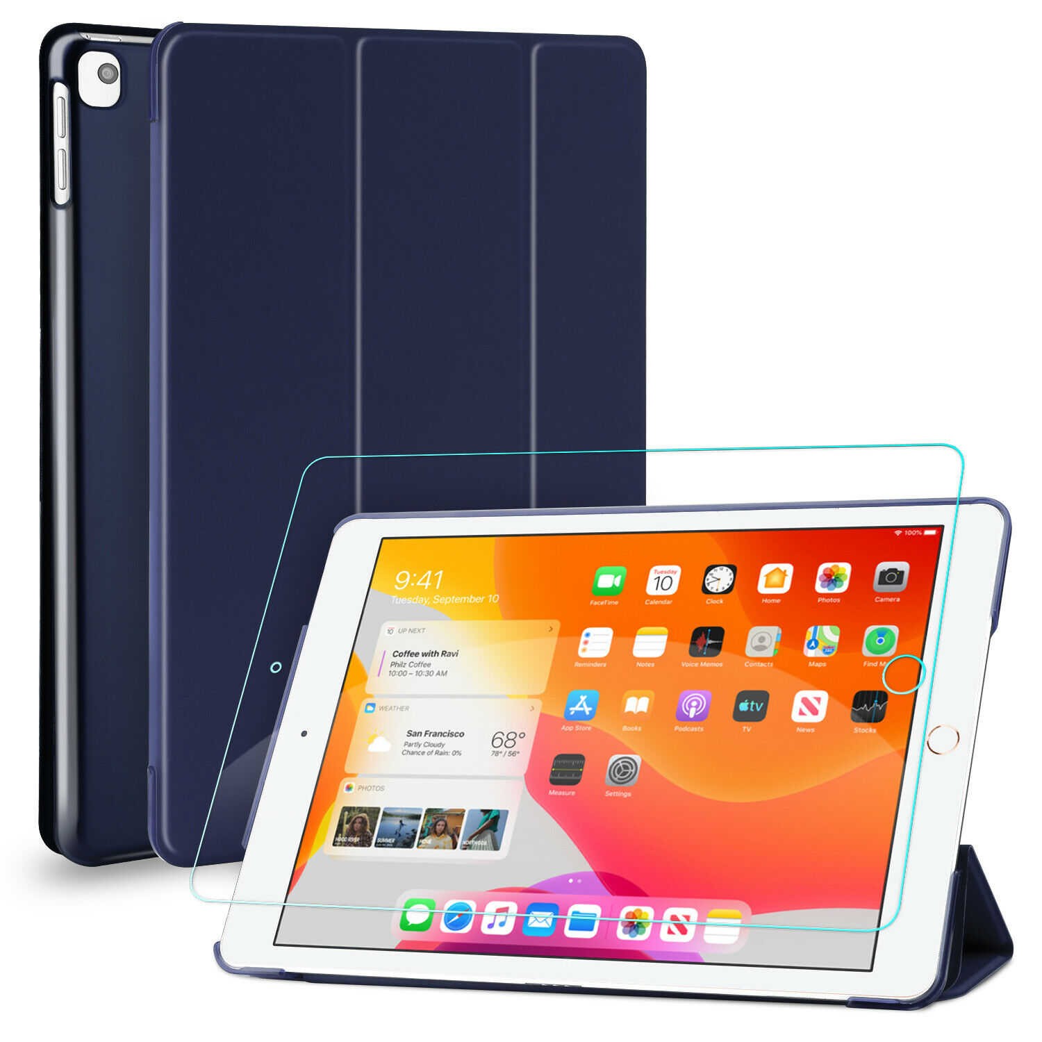 For iPad 10.2″ 2020,8th Generation,7th Gen Kickstand Case Cover,Screen Protector Cases, Covers, Keyboard Folios