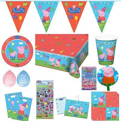 Peppa Wutz Peppa Pig Kindergeburtstag Auswahl Party Deko Dekoration Geburtstag