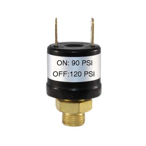 90-120 PSI Air Compressor Pressure Control Switch Valve Horn 1/8