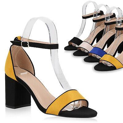 Damen Riemchensandaletten Mid Heel Abendschuhe Party Sandaletten 826235 Trendy Party Schuhe