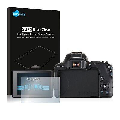 6x Displayschutzfolie für Canon EOS 200D Schutzfolie Klar Folie Displayfolie