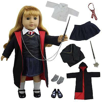 8pcs Hermione Granger Outfit Hogwarts-like Shoes Handmade Clothes for 18'' Doll (Hermione Granger Outfits)