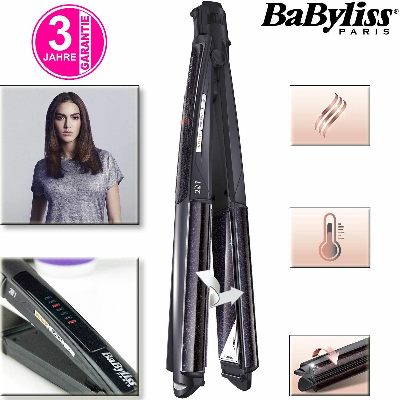 BaByliss 2in1 Glätteisen Keramik Haarglätter Lockenstab Haar Glätter Glätteeisen