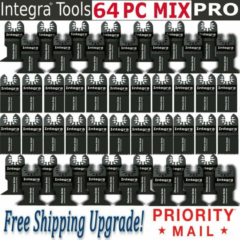 INTEGRA® 64 PC Oscillating Saw Blades fits FEIN MULTIMASTER RIDGID RYOBI BOSCH
