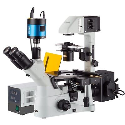 40x-600x Inverted Phase-contrast Fluorescence Microscope With 6mp Extreme Low-