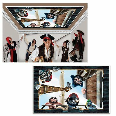 Pirate Ceiling Caribbean Theme Birthday Party InstaView Wall Decoration - Pirate Themed Birthday Parties