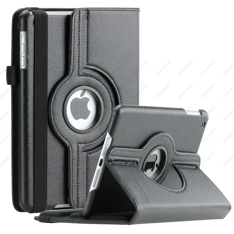 For Apple iPad Mini 2 3 4 iPad Air 360 Rotating Leather Folio Case Cover Stand