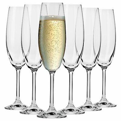 Krosno Venezia Sekt-glas Champagnergläser Sektkelche | Set von 6 | 200 ML
