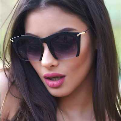 Lens Rimless Sunglasses Shades (Cut Off Semi Rimless Sunglasses Metal Arm Smoked Lens Women Fashion Shades  )